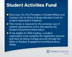 student activities fund