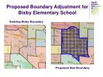 proposed boundary adjustment for bixby elementary school