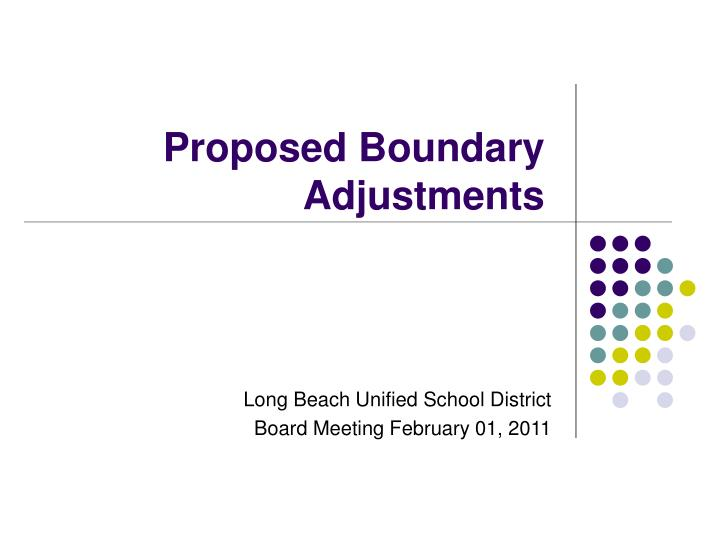 proposed boundary adjustments n.