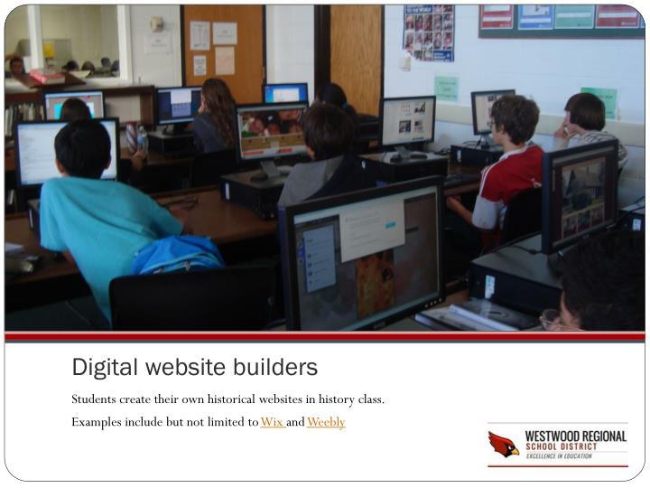 Digital website builders
