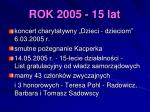 rok 2005 15 lat
