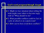 god s work prospered though joseph10