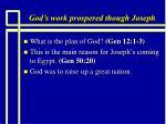 god s work prospered though joseph2