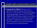 joseph could see the providence of god1