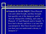 joseph was successful in his work because of god1
