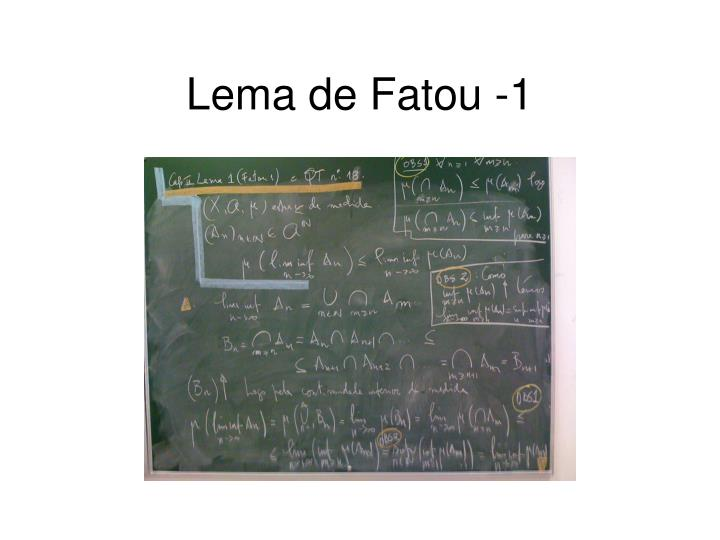 Lema de Fatou -1