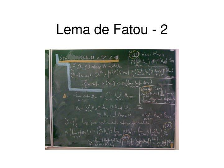 Lema de Fatou - 2