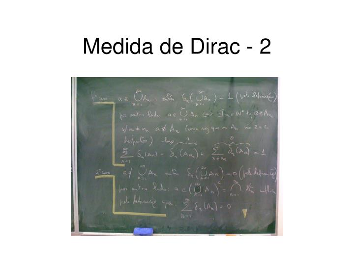 Medida de Dirac - 2