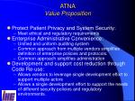 atna value proposition