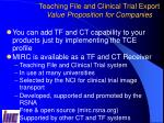 teaching file and clinical trial export value proposition for companies