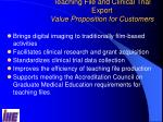 teaching file and clinical trial export value proposition for customers