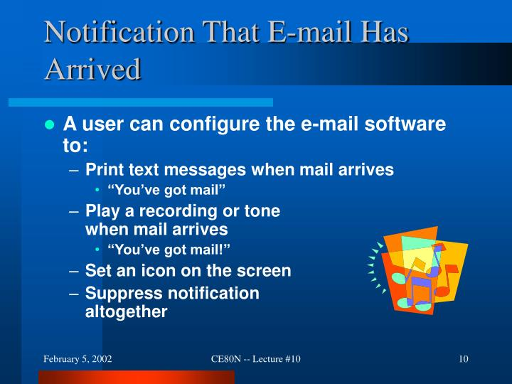 Notification That E-mail Has Arrived