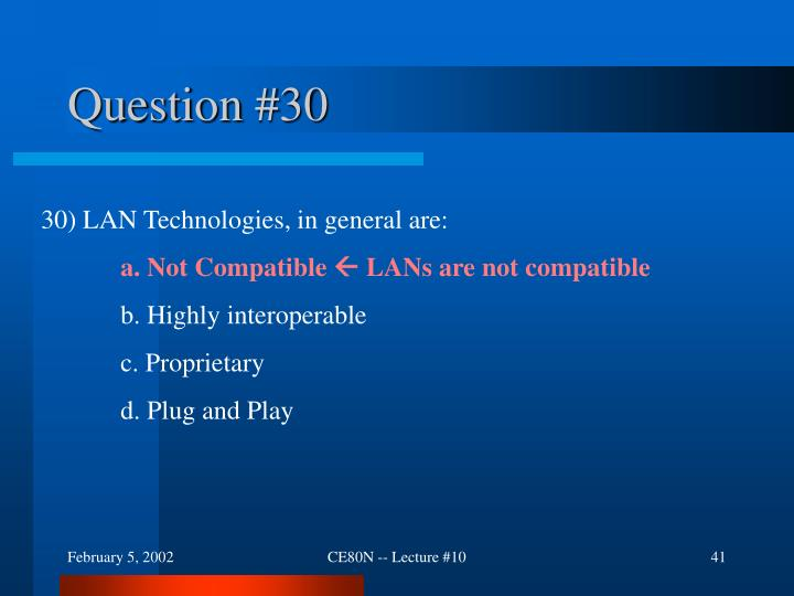 Question #30