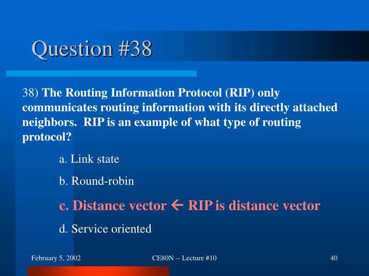 Question #38