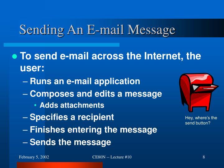 Sending An E-mail Message
