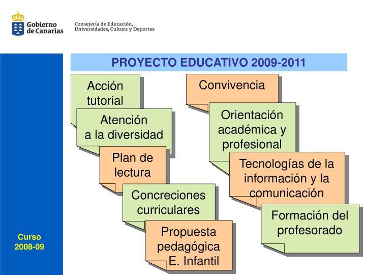 PROYECTO EDUCATIVO 2009-2011