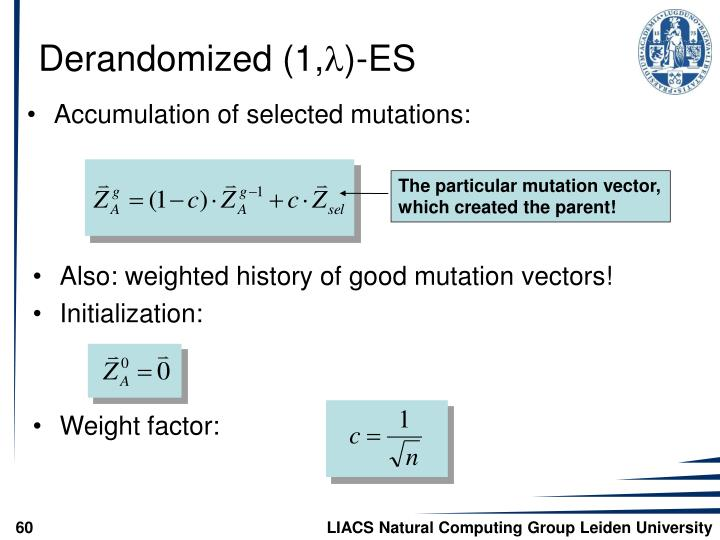 The particular mutation vector,