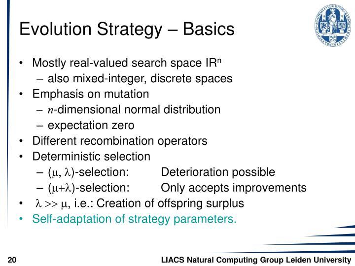 Evolution Strategy – Basics