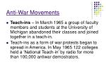 anti war movements