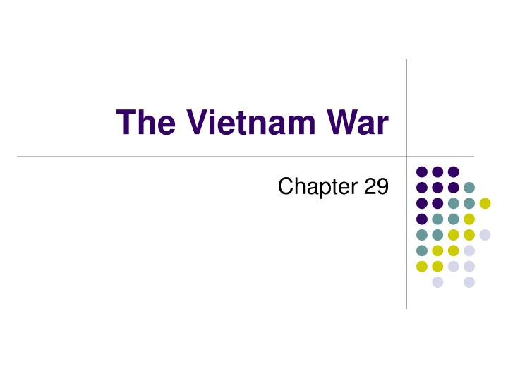 the vietnam war n.