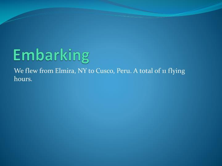 Embarking