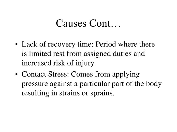 Causes Cont…