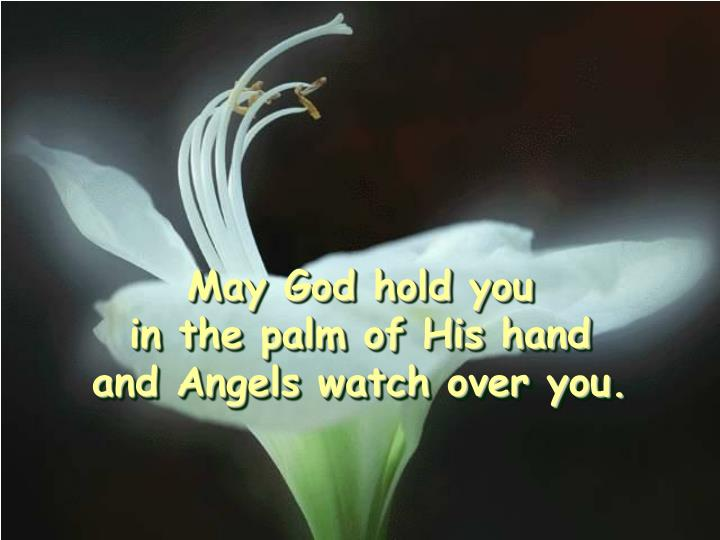 May God hold you