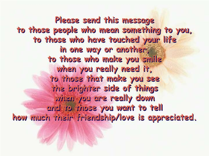 Please send this message