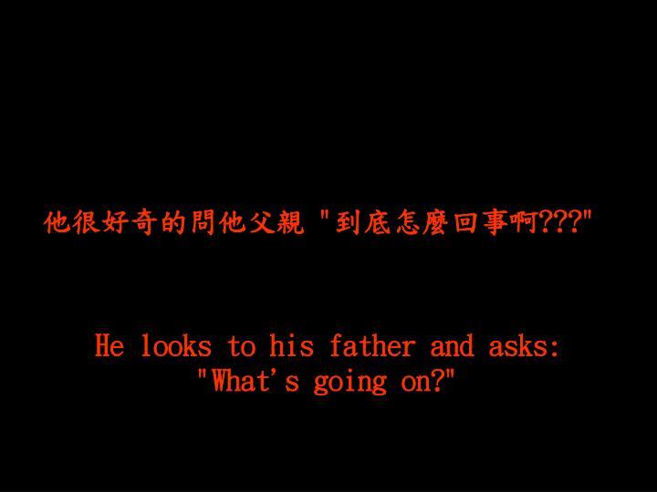他很好奇的問他父親