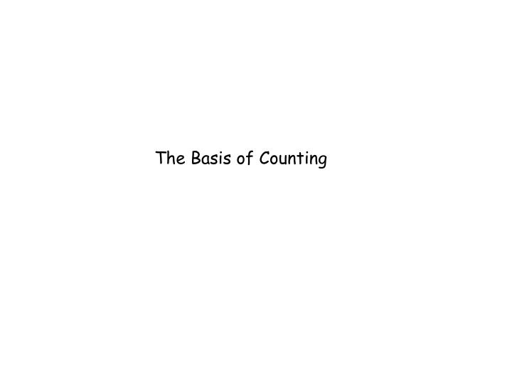 The Basis of Counting