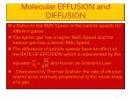 molecular effusion and diffusion