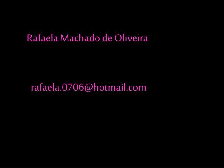 Rafaela Machado de Oliveira