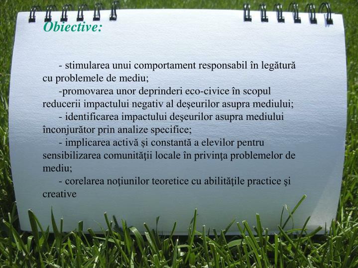Obiective: