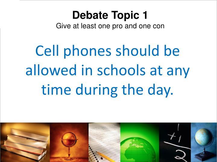 Debate Topic 1