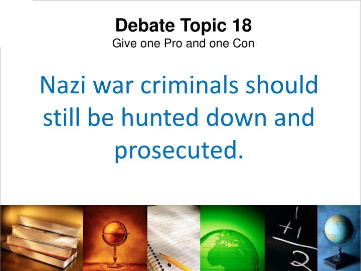 Debate Topic 18
