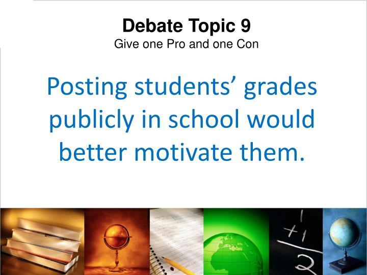 Debate Topic 9
