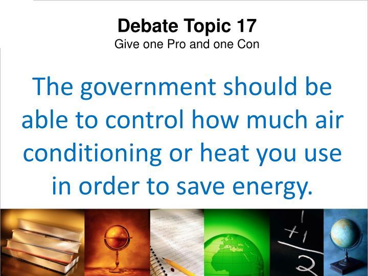 Debate Topic 17