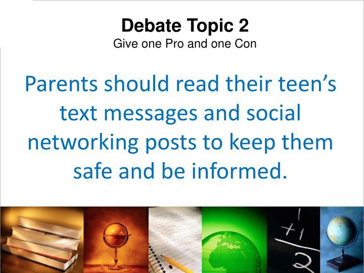 Debate Topic 2