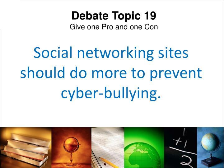 Debate Topic 19