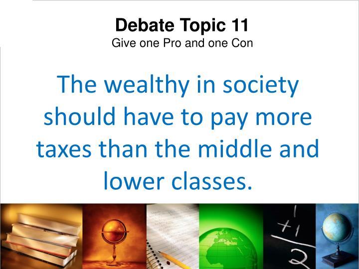 Debate Topic 11