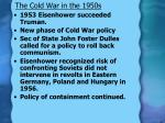 the cold war in the 1950s