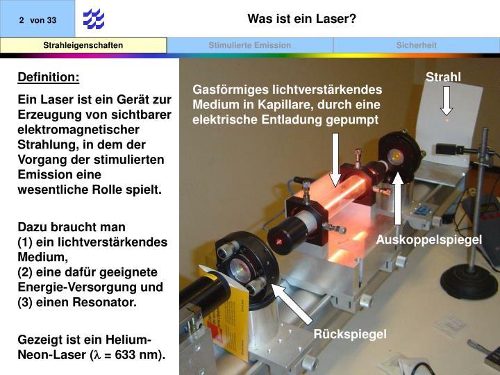 Was ist ein Laser?