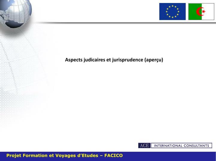 Aspects judicaires et jurisprudence (aperçu)