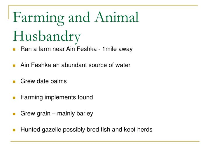 Farming and Animal Husbandry