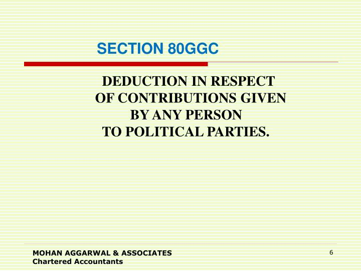 SECTION 80GGC