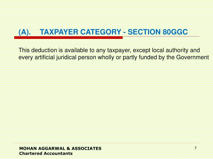 (A).TAXPAYER CATEGORY -