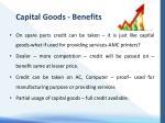 capital goods benefits