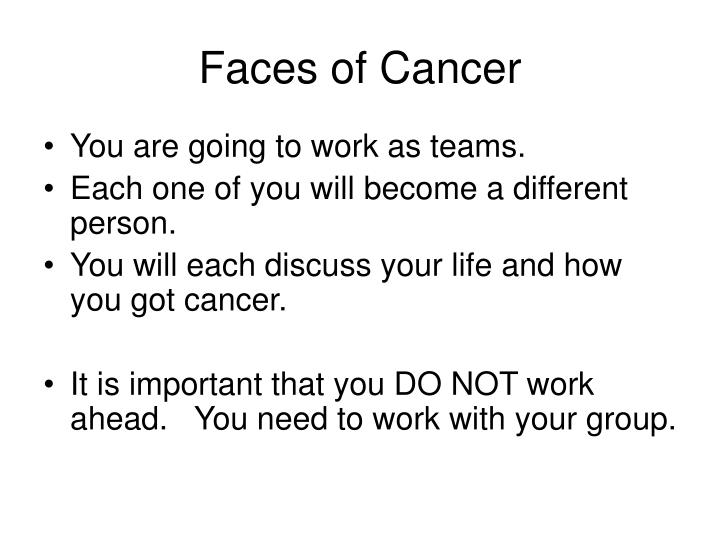 Faces of Cancer