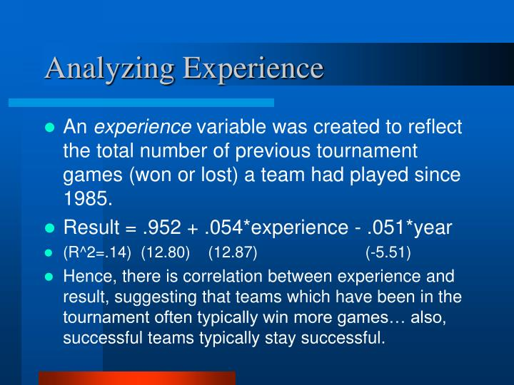 Analyzing Experience