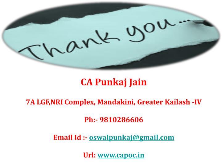 CA Punkaj Jain
